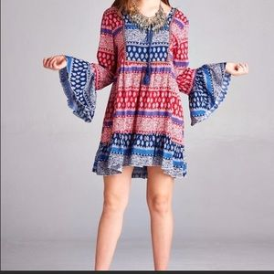 Dresses & Skirts - Boho Bell Sleeved Dress/Long Tunic S, M, L